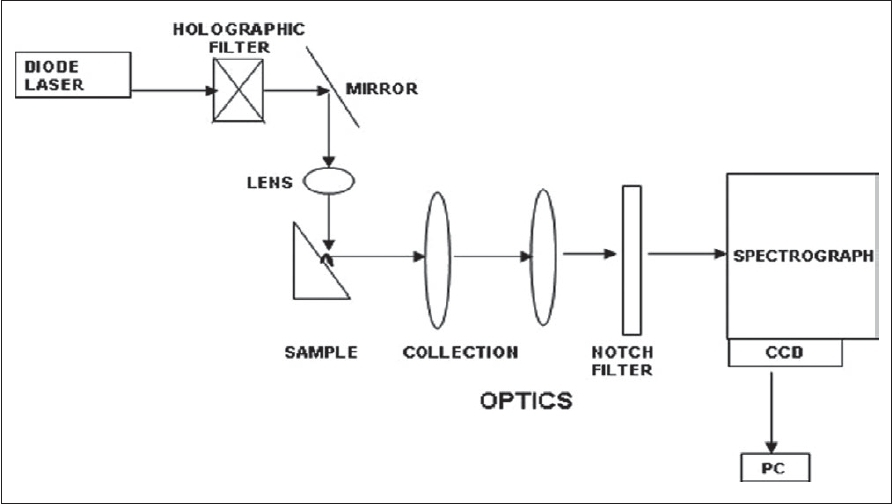 Figure 2: Schematic representation of Raman setup