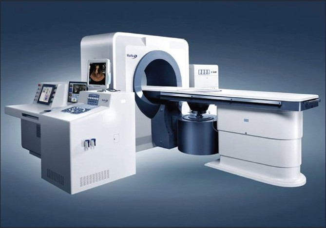 Figure 1: Model JC focused ultrasound tumor therapeutic system manufactured by Chongqing Haifu Technology Co., Ltd. (Chongqing, China)