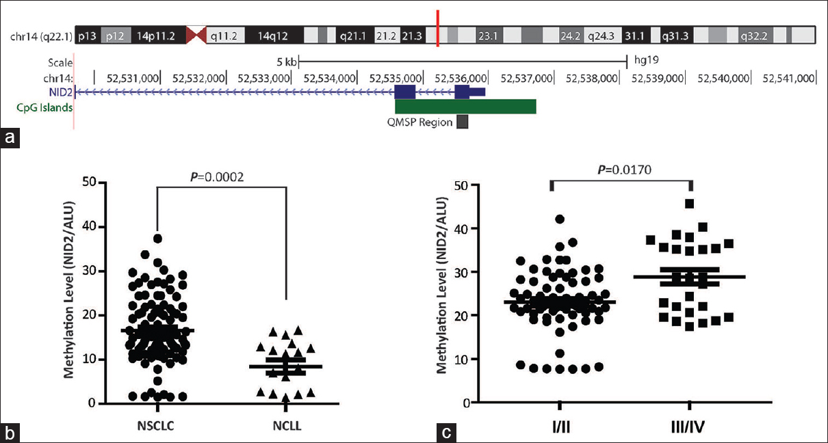 The more potential performance of nidogen 2 methylation by