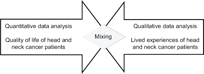 Figure 2: Mixing of quantitative and qualitative data analysis